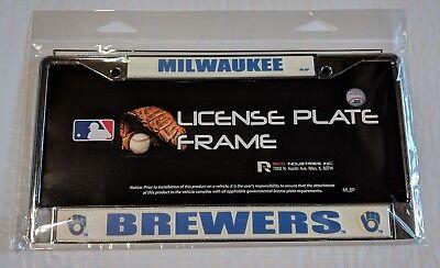 Milwaukee Brewers Chrome Metal License Plate Frame Car Truck Tag Holder Retro