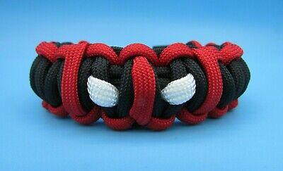 Cool Handmade Deadpool Bracelet - Unique Deadpool Paracord Jewelry