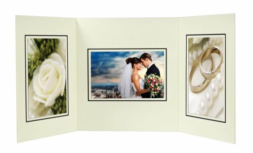 Cardboard Photo Folder For 3 4x6 Photo (Pack of 50) GS002 Ivory Color