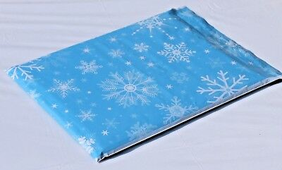 200 10x13 Snowflakes Winter Wonderland Themed Poly Mailers Ship Bag Snow Fall