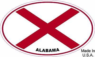 Alabama State Flag Oval Vinyl Sticker Decal Alabama Oval Sticker Decal
