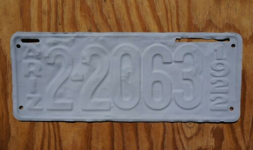 1922 COCHISE COUNTY Arizona License Plate - 1st Year County Codes