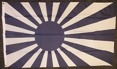 Japanese Rising Sun BLUE Teams Flag 5x3 Sports Japan Football Event Business bn