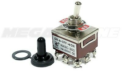 Heavy Duty 20a125v 3pdt On-off-on Toggle Switch Wwaterproof Boot. Usa Seller