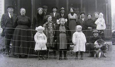 Glass Plate Negative Minnesota 1880s Farm Family group Pic 4x5 5x4 4 x 5 Antique ()