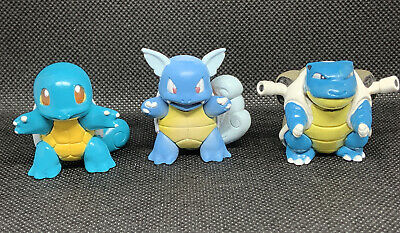 Pokemon Toys Figures Squirtle Wartortle Blastoise Tomy Evolution Gen 1 Set