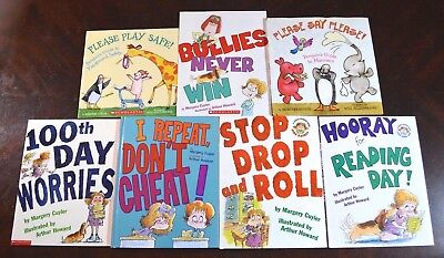 Set of 7 Picture Books by Margery Cuyler Manners School Safety 100th Day M11 - 100th Day Of School Books