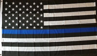 THIN BLUE LINE USA 5x3 Flag Police Lives Matter Sheriff Federal State County Law