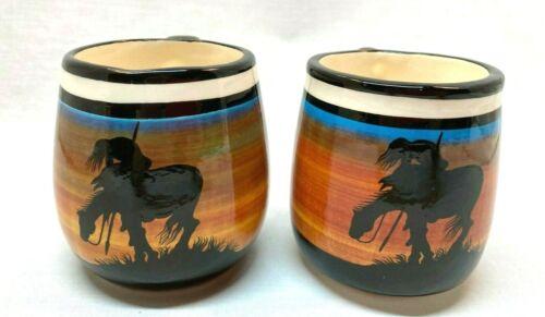 Pair of Navajo Cynthia Yazzie Coffee Cups