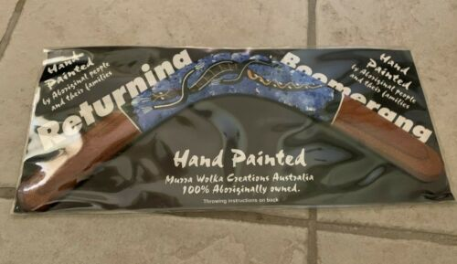 New Hand-Painted Australian Wooden Returning Boomerang