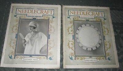 2 JANUARY 1923 AND FEBRUARY 1923 PUBLICATIONS - NEEDLECRAFT