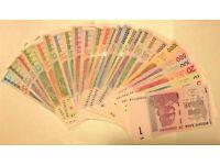 1 Zimbabwe Dollar x 10 Banknotes Consecutive #/'s UNC 2007 Currency Lot 10PCS Set