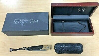 William Henry B10 Lancet MCT Pocket Knife # 24/500 w/ Box + Sheath