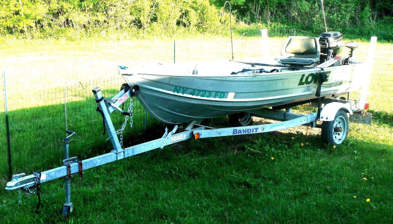 2004 Lowe Aluminum 12' Boat/2004 Bandit Trailer/Mercury 180cc 9.9 hp Elec Start!