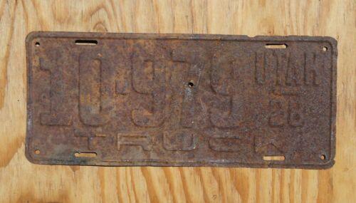 1928 Utah Truck License Plate # 10979