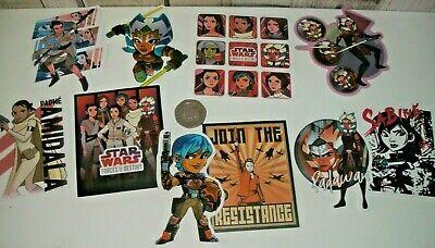 Star Wars Forces Of Destiny Rey Tano Amidala Sabine Vinyl Stickers x 10