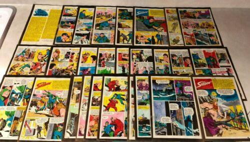 THE SHADOW #6 ART color guides RARE 27 PAGE SET SHIWAN KHAN 1965 CRANSTON