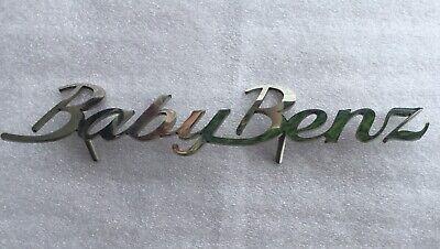 Mercedes W 201 Emblem BabyBenz Edelstahl