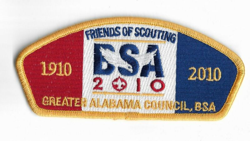 Greater Alabama Council 100th Anniversary 1910 - 2010 BSA Centennial FOS CSP