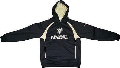 Pittsburgh Penguins Reebok Black Synthetic Trainer Hooded Sweatshirt - Medium on sale