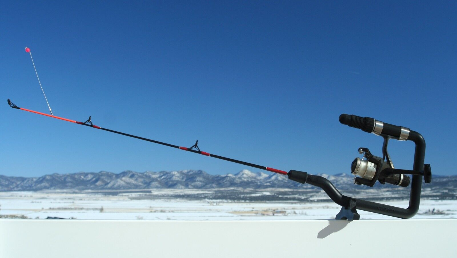 Ice n easy ice fishing rod 18 inch medium light action for Light action fishing rod