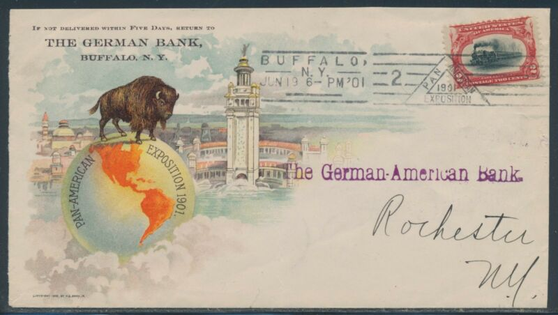 #295 ON PAN-AM EXPO MULTI-COLORED COVER BUFFALO, NY 6/19/1901 CANCEL BR4498