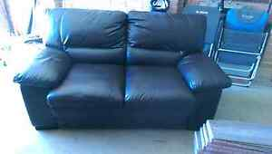 Lounge 2 seater very dark brown pu leather Mount Annan Camden Area Preview