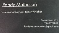 Professional Drywaller and Taper/Finisher