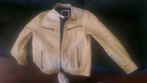 Mint leather jacket stylish warm on point Scarborough Stirling Area Preview