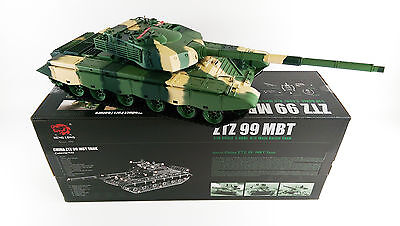 Heng long 1/16 BB shooting Smoking Sounding ZTZ 99A MBT RC Airsoft Battle Tank for sale  Shipping to Ireland