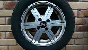4 x Original Hyundai wheels and tyres Redland Bay Redland Area Preview
