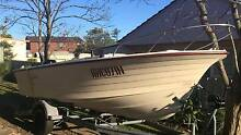 4.3m Refurbished Clinker Hull Boat + Motor + Trailer Newcastle Newcastle Area Preview