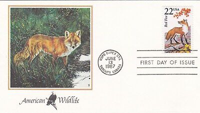 USA AMERICAN WILDLIFE FDC 13.06.1987