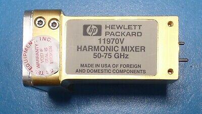 Hpagilentkeysight 11970v 50-75 Ghz Waveguide Harmonic Mixer Fully Functional
