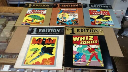 5 - Famous First Edition - Action 1, Detective 27, Sensation 1, Batman 1, Whiz 1