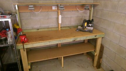 Timber workbench with LED Lighting and power  Ascot Brisbane North East Preview