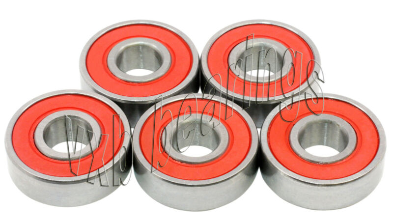 5 Bearings 6203-2RS Electric Motor Sealed Ball Bearing