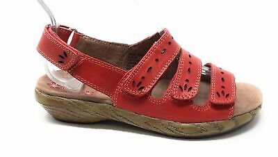 Klogs Womens Lacie Dress Slingback Sandal Hunter Red Leather Size 6 M