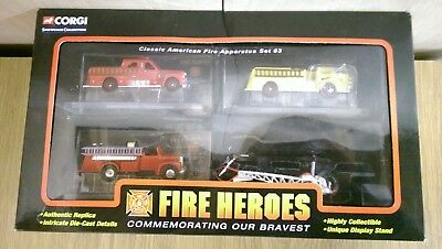 Corgi CSFH12004 Showcase Collection Fire Heroes Classic American Fire App. Set 3