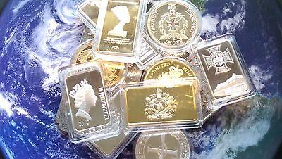 world bullion bars and coins