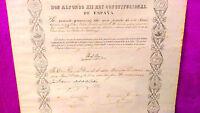 Titulo De Caballero De La Real Orden, Isabel La Catolica,feliu Marti I Urpi 1881 -  - ebay.es