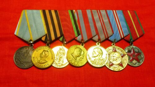7 Russian Soviet Medal Combat Service Victory Over Germany Army 30 40 50 Yrs