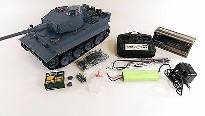 2.4ghz 1:16 Heng Long German Tiger Tank Smoking Sound Radio Control Army Tank