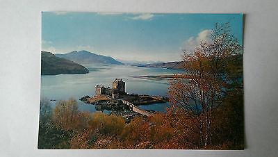 Vintage Eilean Donan Castle, Loch Duich, Wester Ross colour postcard c1960s