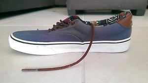 Blue Canvas Vans Shoes, US Mens Size 9, Never Worn Cornubia Logan Area Preview