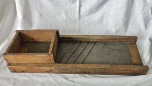 antique cabbage wood 3 blade slicer 24 inches