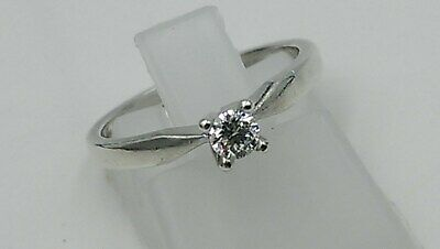 Goldsmiths  9ct White Gold 0.15 Carat Diamond Ring Size M 1.9g  Canadian Ice