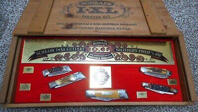 VINTAGE I*XL SCHRADE WOSTENHOLM SHEFFIELD ENGLAND #MO455 FIVE KNIFE SET