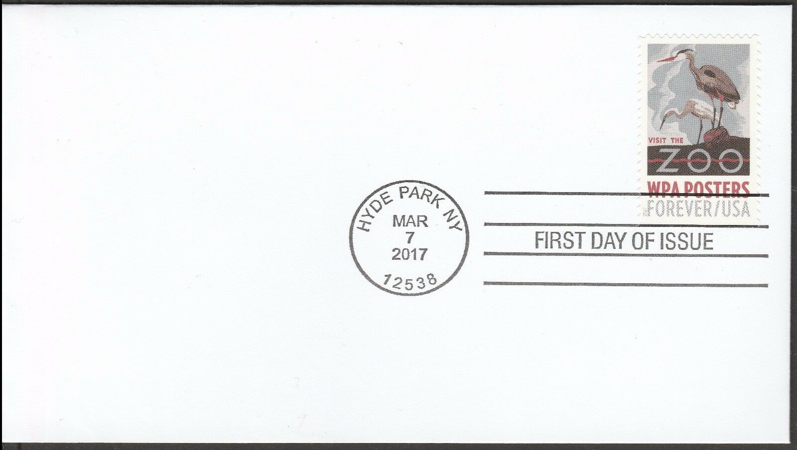 US 5186 WPA Posters Visit The Zoo CDS FDC 2017 - $4.86
