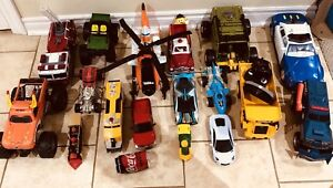 17 Trucks, Trains, Cars, Chopper and others.